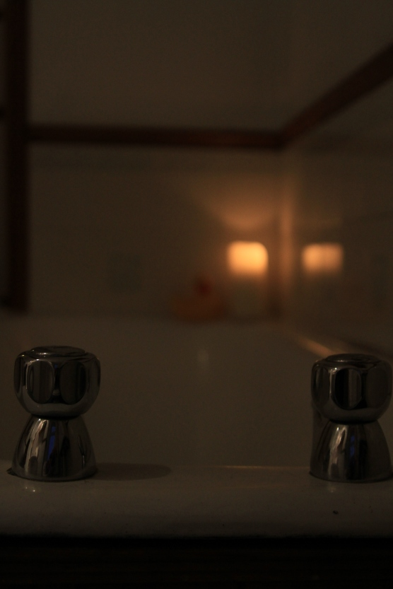 Bathroom By candle Light